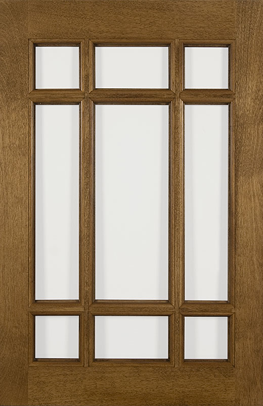 Hiland Wood Products Cabinet Door Prairie Style Muntins