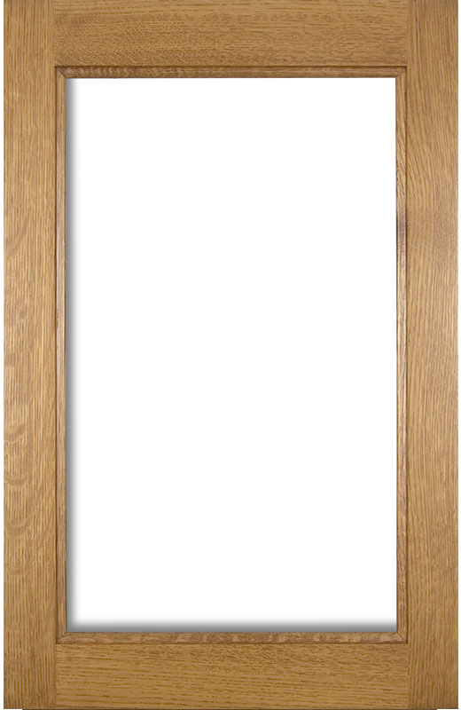 Hiland Wood Products Cabinet Door Traditional Glass Frame