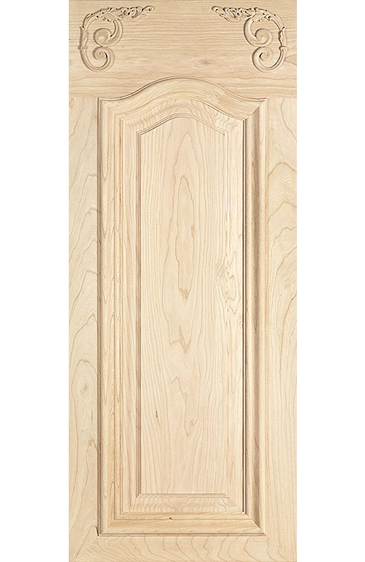 Hiland Wood Products Cabinet Door Custom Hand Carved 3