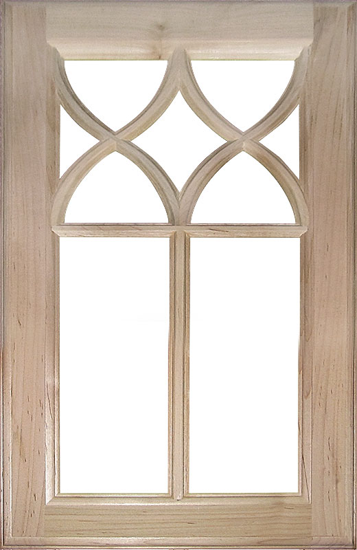 Hiland Wood Products Cabinet Door Custom Gothic Mullion Door 812