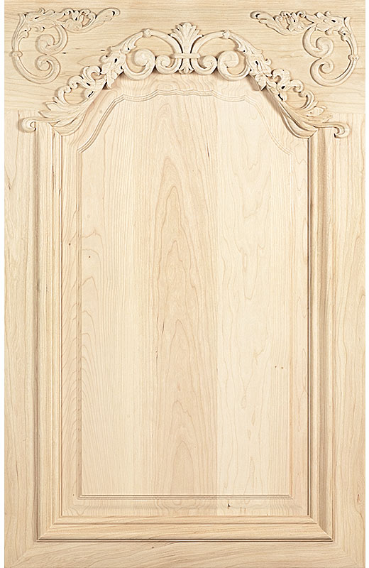 Hiland Wood Products Cabinet Door Custom Hand Carved 1