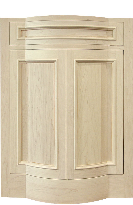 Hiland Wood Products Cabinet Door Custom Flat to Curved Door
