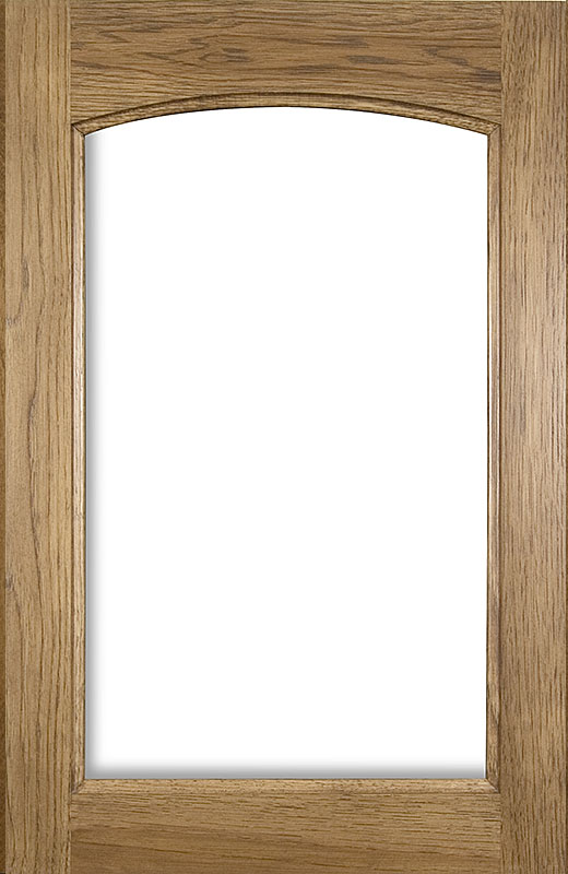 Hiland Wood Products Cabinet Door Shallow Arch Glass Frame